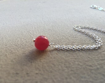 Sale Red Ruby gem Necklace - more options available