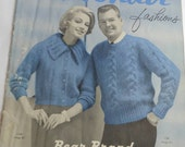 For Vintage Knitting Enthusiasts, 1960s Knitting Patterns for Men and Women, Hand Knits or Pages to Frame