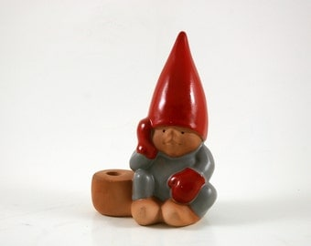 "Lisa Larson for Gustavsberg ""Tomte"" Advent Christmas Candle Holder - Gnome Pixie Elf"