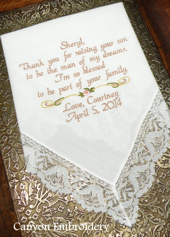 mother of the bride embroidered wedding by canyonembroidery