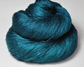 Nocturnal maelstrom - Silk Lace Yarn - knotty skein