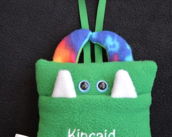 Personalized Tooth Fairy Pillow | Custom Tooth Monster with Hair or Horns | Tooth Monster Pillow