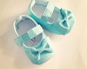 Baby Girl Shoes Toddler Girl Shoes Soft Soled Shoes Wedding Shoes Tiffany Shoes Faux Dupioni Silk Flower Girl Shoes Tiffany  - Everly