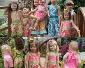 Poppy Fields Romper PDF pattern - Ellie Inspired Girls pattern - sizes 1-16