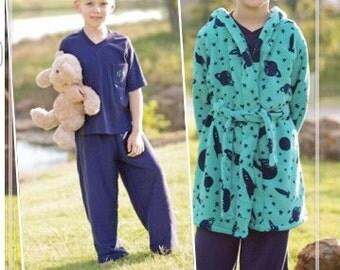 Sleepy Bear Pjs - Ellie Inspired PDF Pattern Size 1 - Size 16 Pajamas and Robe