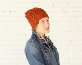 THE WISTERIA HAT | 24 Color Choices | Chunky Hat Knit Slouchy Lace Textured Winter