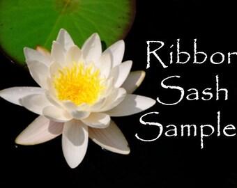 Satin ribbon bridal wedding sash color sample
