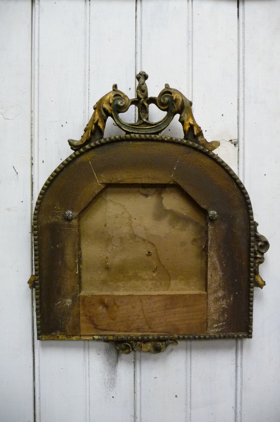 Antique Frame Salvage Wood Architectural Mirror Ornate