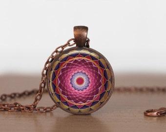 The Splendor of  Color Kaleidoscope Mandala Jewelry.