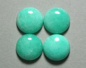 AMAZONITE cabochon round 20mm disc green blue dome designer cab