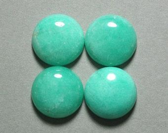 AMAZONITE cabochon round 20mm disc green blue dome designer cab