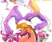 Archival Prints of Fashion Illustration, Watercolor Print. Vogue Art Cover.  Paris Vogue