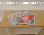 Set of 4 PLACEMATS  - Dollhouse Miniature Kitchen 1:12 Scale