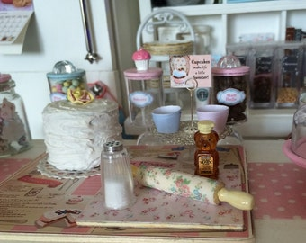 1:6 Playscale - ROLLING Pin or HONEY Bear Bottle or Sugar SHAKER