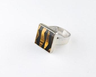 Tiger Stripes Ring