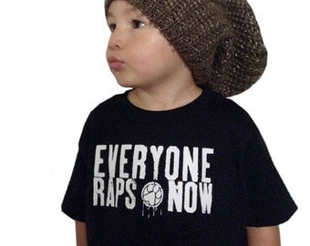 """Pawz One Official """"everyone raps now"""" Toddler shirt printed on ultra soft ring spun cotton"""