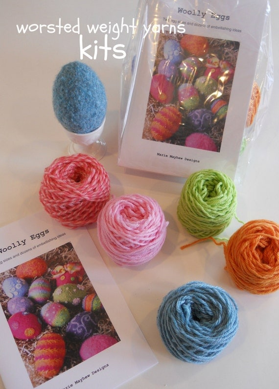 Knitting Pattern Wool Kits : PATTERN-KIT. A Knit & Felt Wool Eggs Pattern by woollysomething