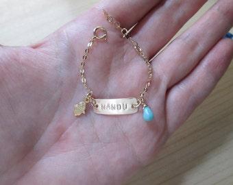 Hebrew baby bracelet etsy hebrew name bracelet baby girl id bracelet baby gift newborn baby jewelry baptism personalized hebrew name negle Image collections