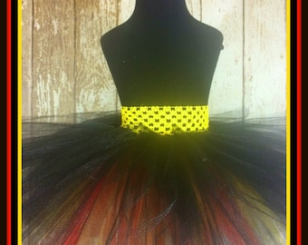 Bombera - Black with Red and Yellow Tutu - Fits Sizes 6 months - Adult