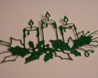CHRISTMAS Die Cuts Memory Box Glowing Candles