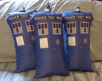 Blue Police Box Tardis Stuffed Toy