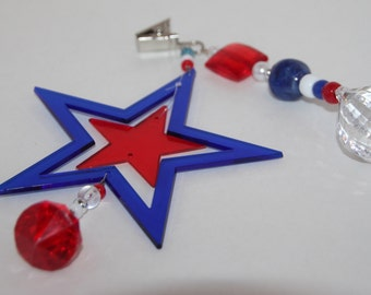 4th of July Tablecloth Weights Red, White and Blue