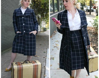 Vintage 60s Geoffrey Beene Suit: 2 Piece Coat Skirt