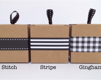 Narrow Black Paper Ribbon in Pattern of Your Choice