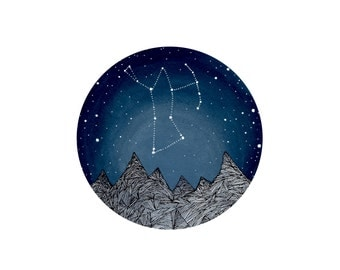 Orion Constellation, Fine Art Print-Orion and the Blue Ridge Mountains