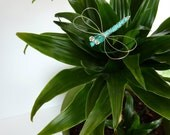 Turquoise Dragonfly Hair Pin, Clip, Brooch or Bouquet Decoration - Dragonfly Jewelry  - Somethin Blue --Tagt