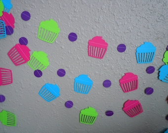 Cupcake Paper Garland- Choose Your Colors