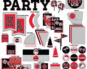 Cheerleading Party PRINTABLE by Love The Day