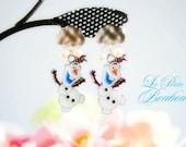Summer Olaf with snow earrings