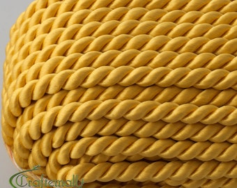 Twisted cord - 5mm - yellow (A4202) - 1 meter