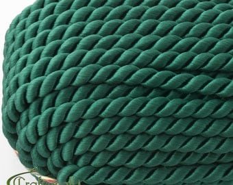 Twisted cord - 5mm - pine green (A7802) - 1 meter