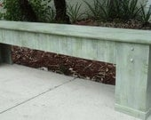 Rustic Wooden Bench, Country Cottage Decor, Mud Room Bench, Beach House Entry