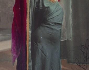 Belle Epoque Stage Performer, Mlle. Romanitza, hand-colored, circa 1905