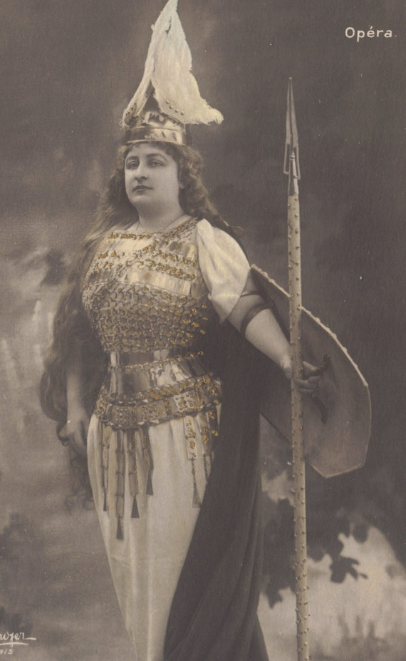 Mlle. Marcy in Wagnerian Costume, by Reutlinger, circa 1900