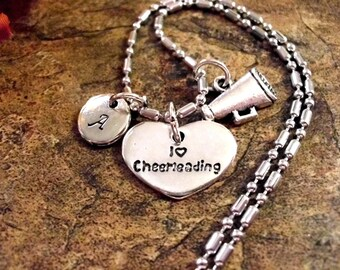 Super Sale Now Personalized Jewelry, Cheerleader Jewelry, Cheerleading Jewelry, Hand Stamped Jewelry