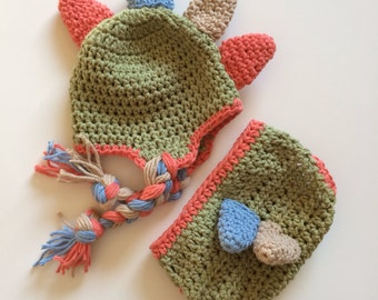 Dinosaur hat, crochet dinosaur hat, crochet dinosaur, dinosaur costume, baby dinosaur hat, dino hat, dinosaur photo prop, diaper cover