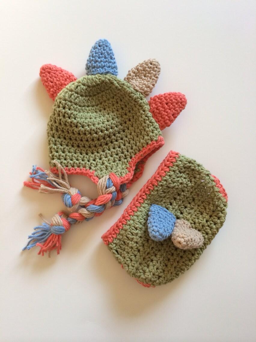 Crochet Dinosaur Hat And Diaper Cover Pattern : Dinosaur hat crochet dinosaur hat crochet dinosaur dinosaur