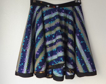 Handmade circle skirt vintage fabric