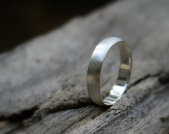 Simple, Elegant Handmade Sterling Silver 5mm Wedding Band, Friendship Ring, Sterling Silver Band,