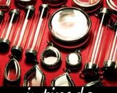 Intirado, Reliquary, Pendant Trays, Unique Shapes Sizes, Silver Tone, Shadow Box, Jewelry Making, Customizing, Supplies, Reliquaries, 25 pcs
