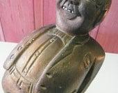 Vintage Carved Figure Jolly Man