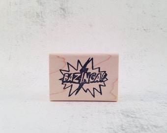 The Bazinga Rubber Stamp
