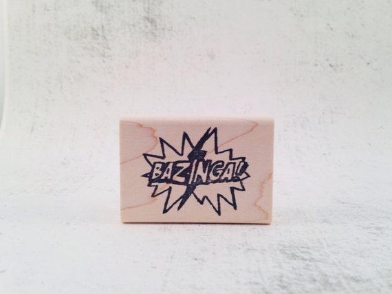 The Bazinga Rubber Stamp
