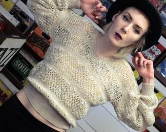 70's Handmade Knit Sweater - S/M