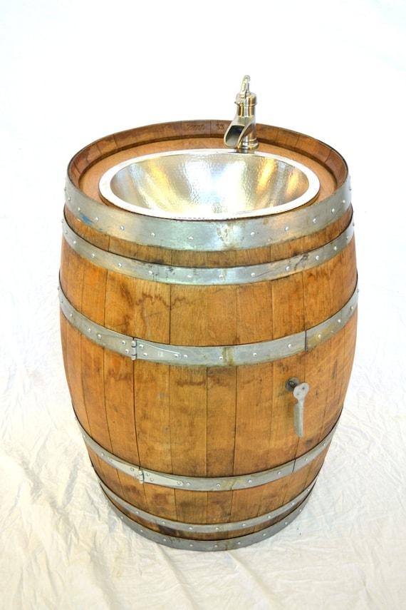 Items similar to barrel lekara wine barrel sink bath for Whiskey barrel bathtub