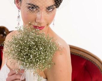 Wedding Veil, Birdcage Veil, Ivory bandeau Birdcage Veil, ivory birdcage bridal veil